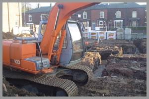 gépi földmunka - alapásás