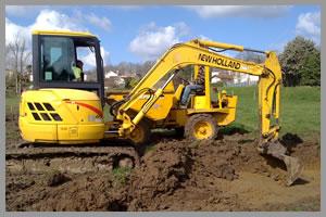 gépi földmunka - terület előkészítés